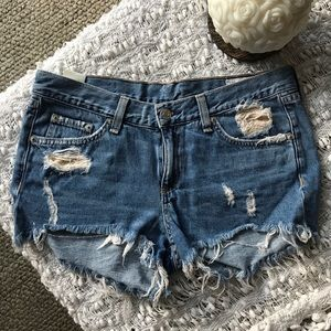 Rag & Bone Destroyed Jean Shorts